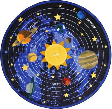 Bring The Beauty Of Solar System Into Your Clroom With Cosmic Wonders School Rug Anti Soil And Antimicrobial Treatment