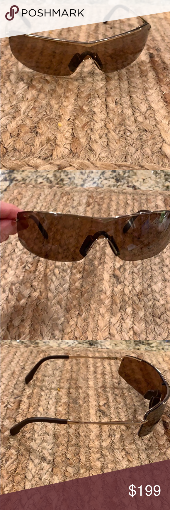 cba4669c0f Maui Jim Sunglasses MJ-511-16 Maui Jim Sandbar Sunglasses MJ-511-16  brown/gold. These glasses are in perfect condition, no marks or scratches. Metal  frame ...