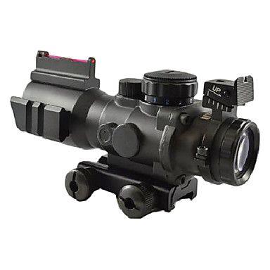 4x32 Tactical Optical Fiber Rojo / Verde / Azul Dot alcance del rifle de 20 mm Rails Pistola – USD $ 108.99