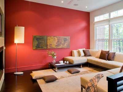 55 fotos e ideas para pintar y decorar la sala o salita de - Paredes decoradas modernas ...