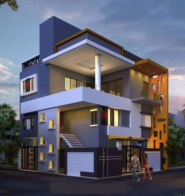 Amazing Ideas House Front Elevation Designs For Duplex Houses House Elevation Bungalow House Design House Plans