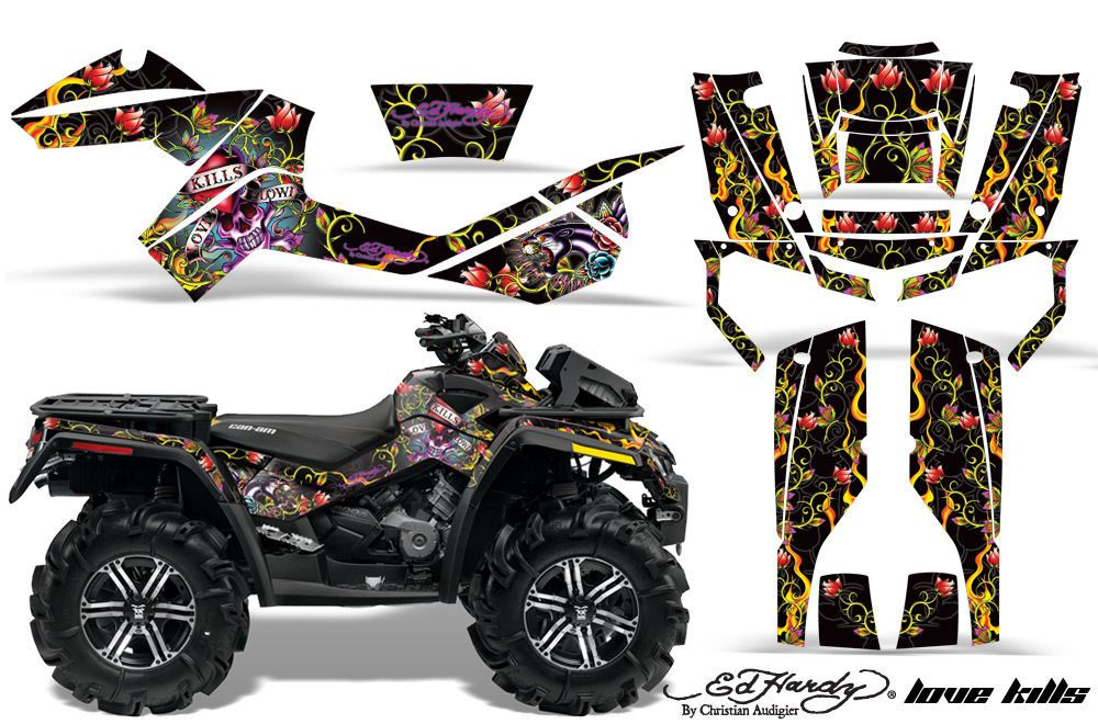 Can Am Outlander Xmr Graphic Kit 400 500 800 Amr Decal Atv Sticker Part Edhd Lk Amrracing