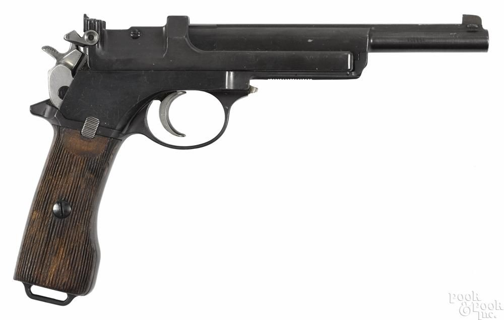 Steyr Mannlicher model 1905 semi-automatic pistol, 7 65 mm, with a 6
