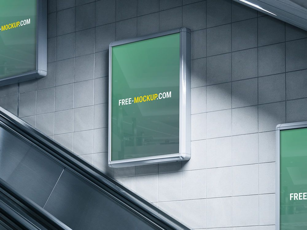 Subway ads mockup