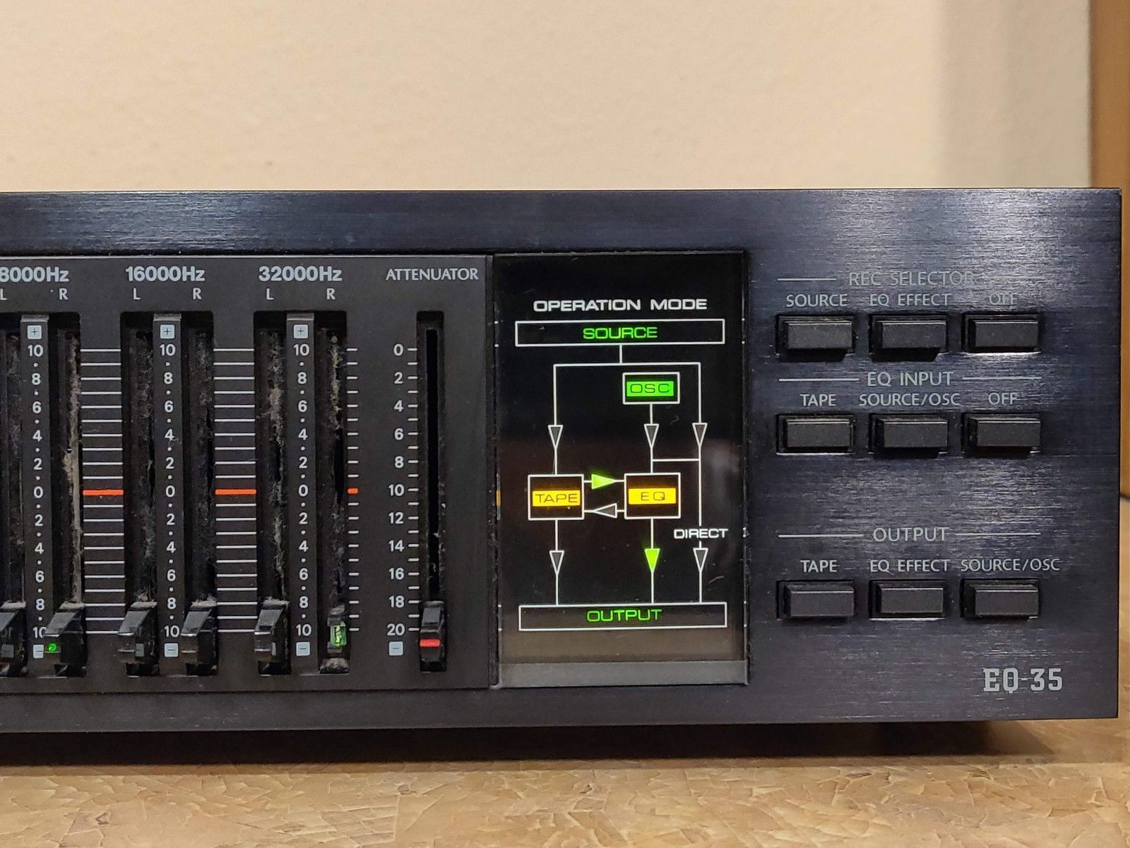 Onkyo Integra Stereo Graphic Equalizer Eq 35 Stereo Equalizer Graphic