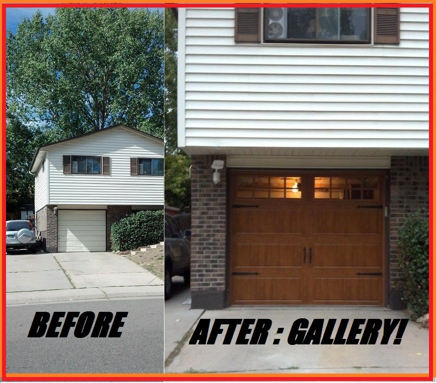 We Really Like This One What A Difference And This Door Is Not Very Expensive With Images Garage Doors Doors Steel Garage Doors