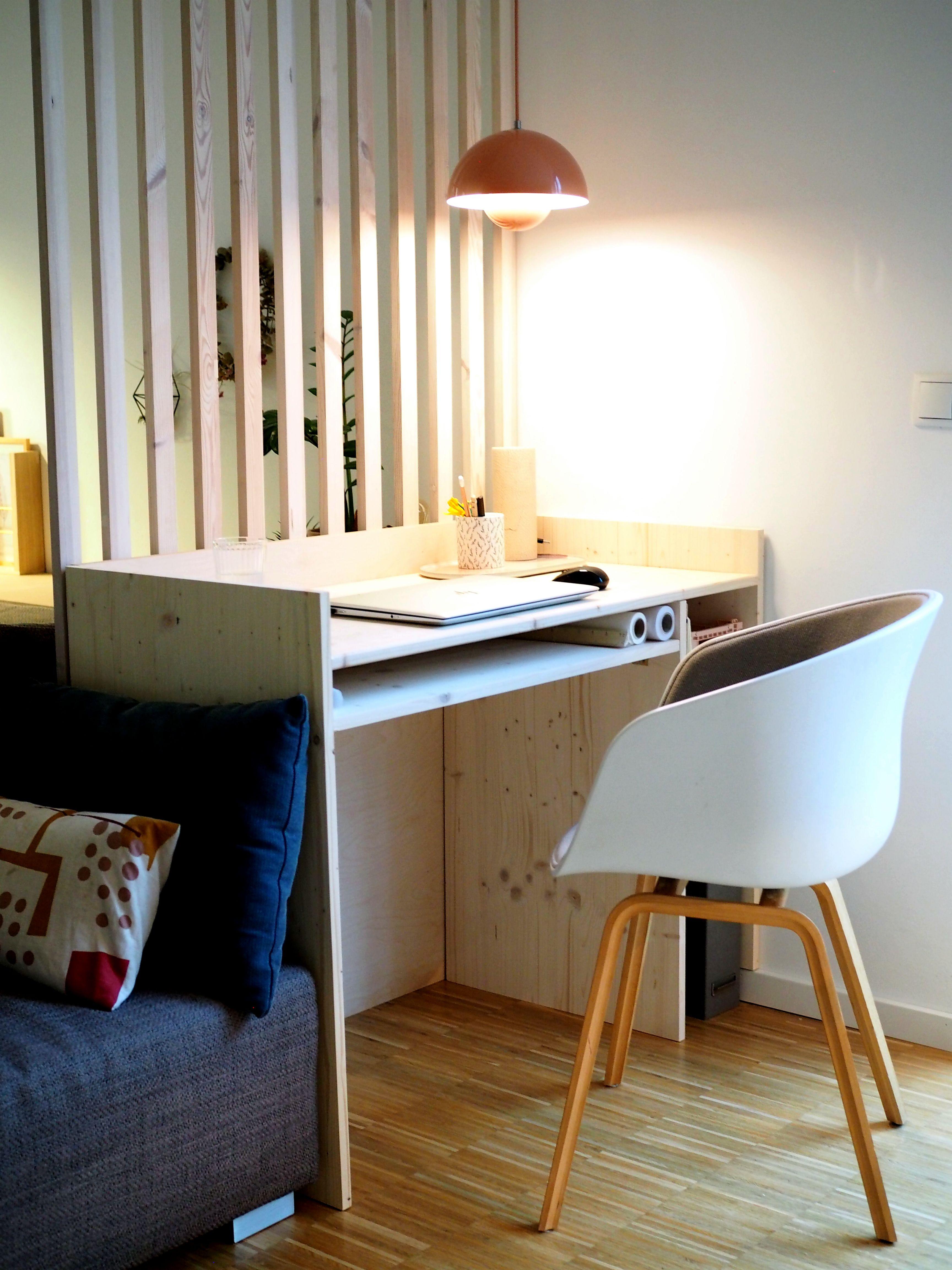 Diy Schreibtisch Im Wohnraum Haus Deko Ideen Furs Zimmer Zimmer Einrichten