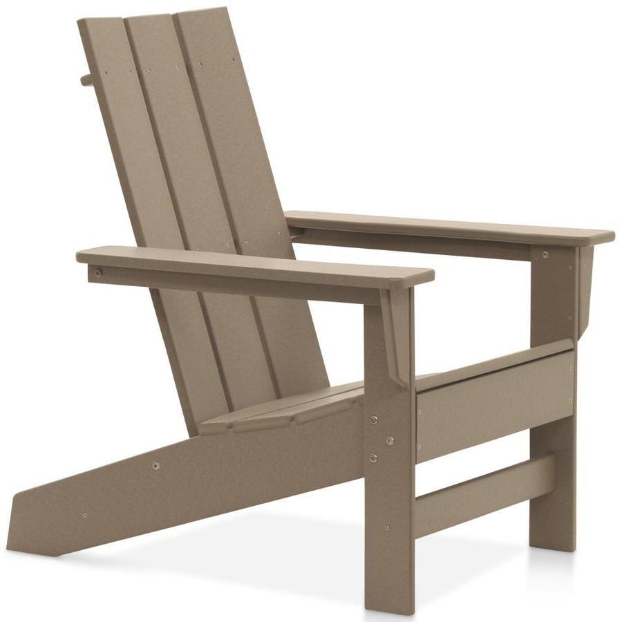 Durogreen Durogreen 174 Aria Adirondack Chair Weathered Wood