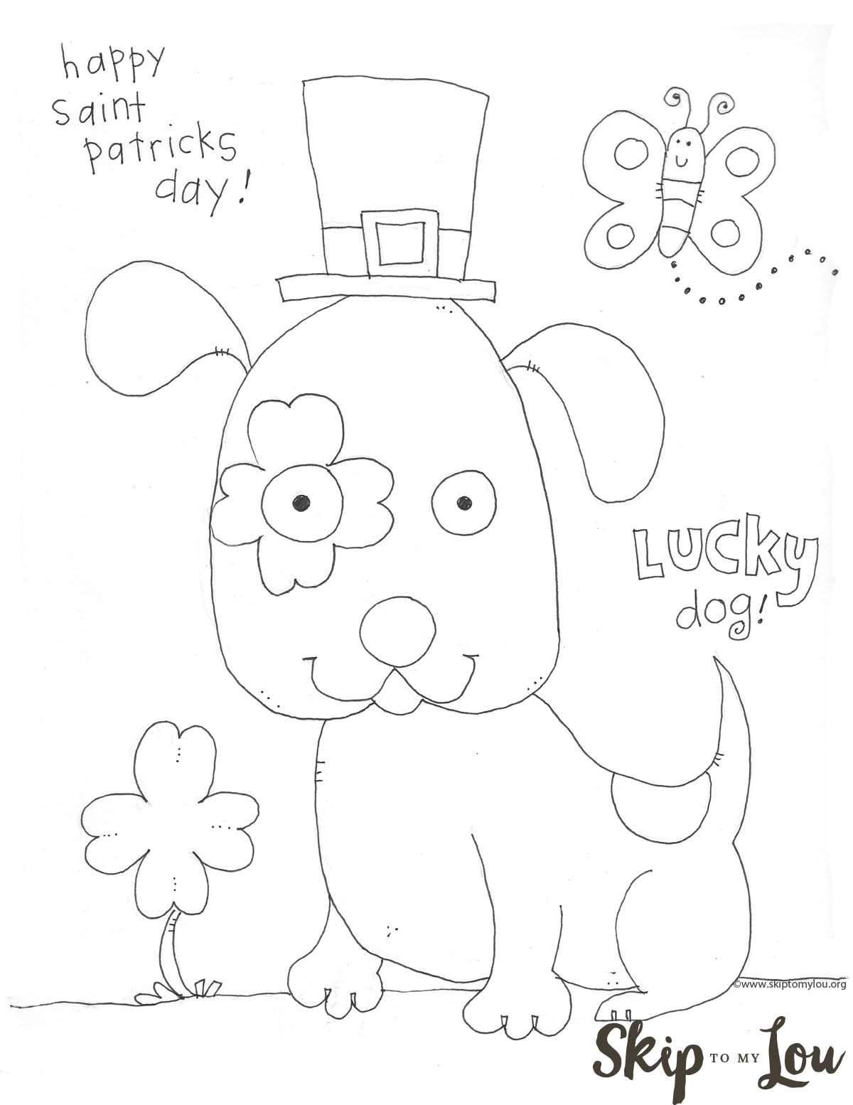 St. Patrick's Day Coloring Page preschool free printable