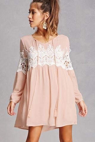 Tassels N Lace Crochet Dress Everday Wear Dresses