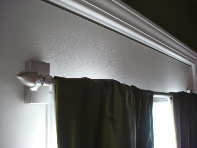Magnetic curtain rod from lowes. Perfect for my french door ...