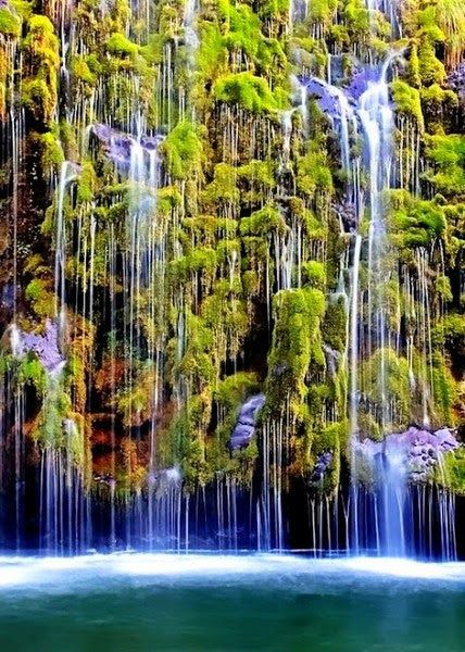 Beautiful Waterfalls In California Usa Mossbrae Falls Dunsmuir Places To