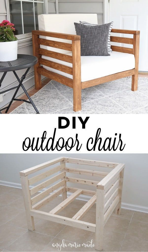 Photo of DIY Outdoor Chair – Angela Marie Made –   – #angela #chair #