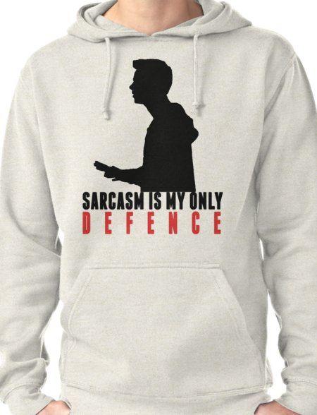 Stiles Stilinski - Sarcasm is my only defence Pullover Hoodie