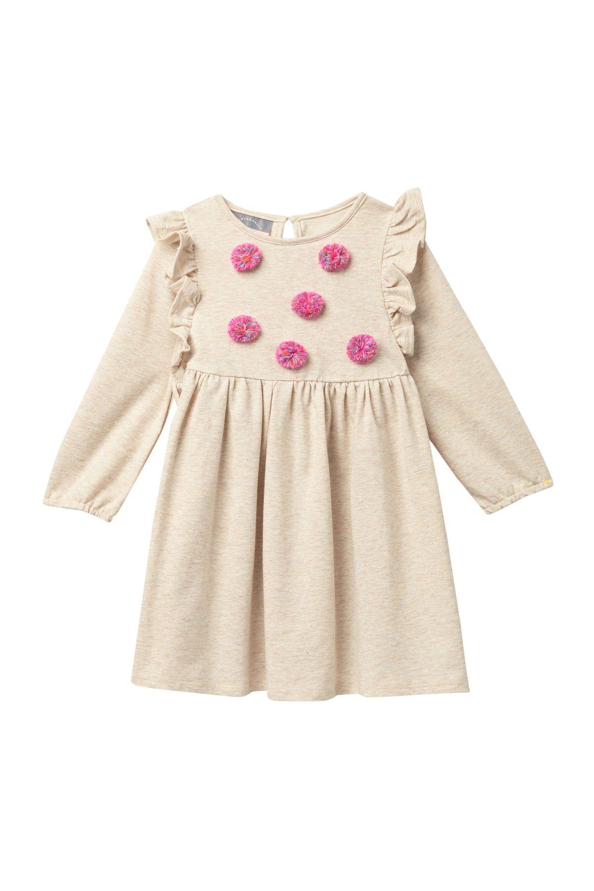 Pastourelle by Pippa and Julie | Ruffle Pompom Dress (Toddler & Little Girls #nordstromrack