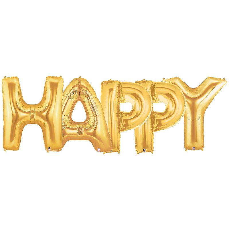 Jumbo foil balloonshappy gold foil balloons foil
