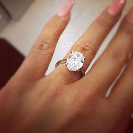 anas oval diamond platinum engagement ring - Oval Wedding Ring