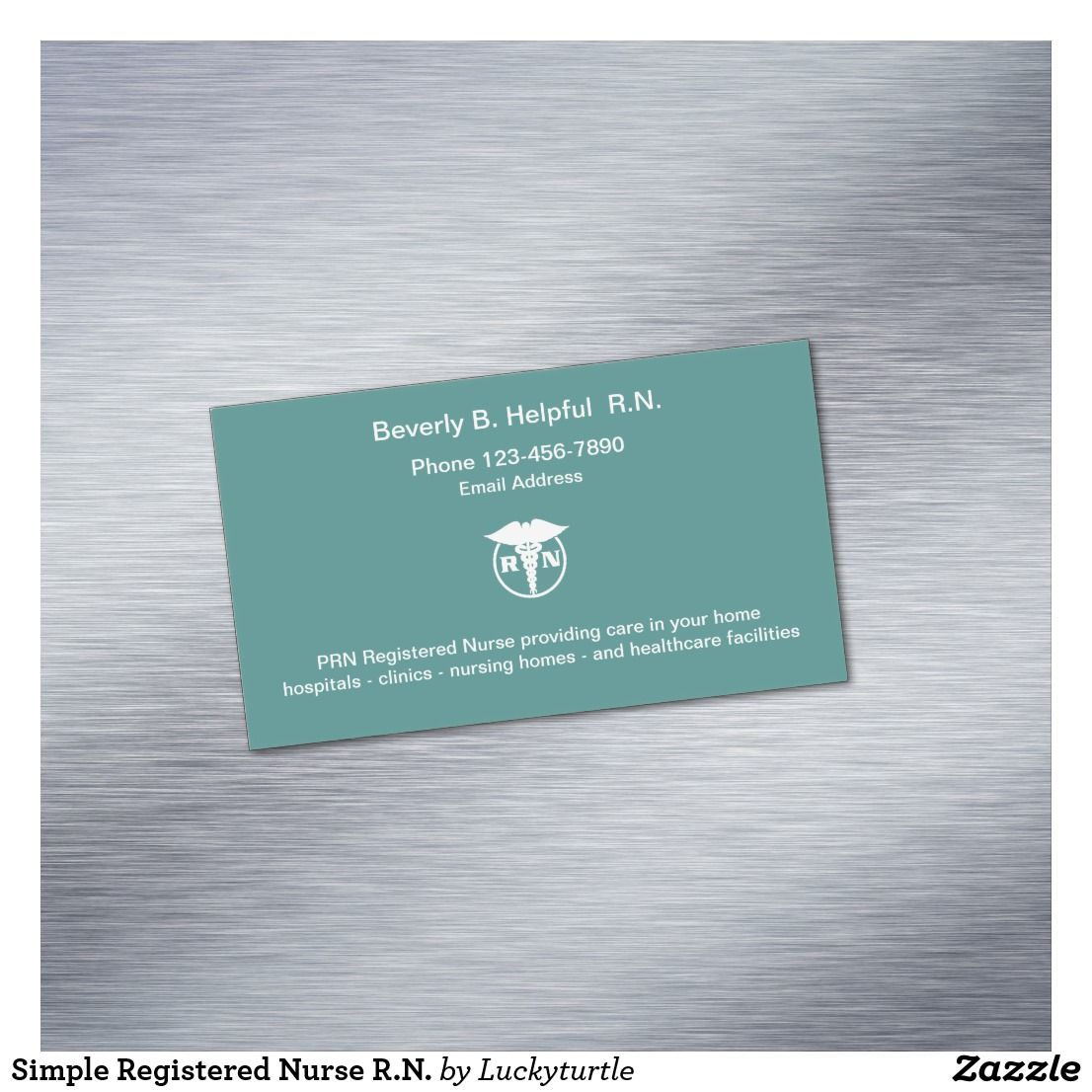 Simple Registered Nurse R N Business Card Magnet