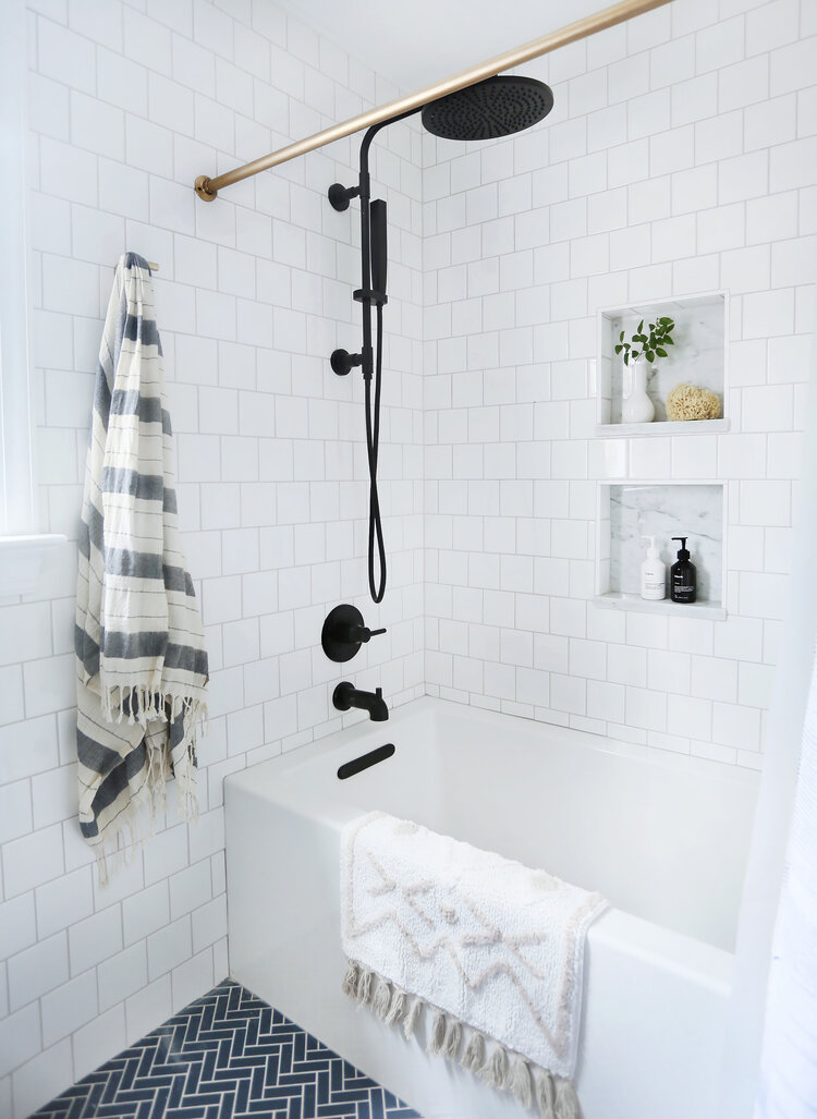 Guest bath reveal: the (delish matte black) fixtures — Sunny Circle Studio