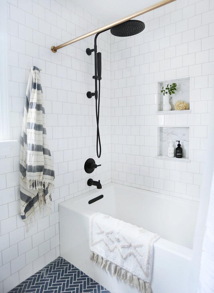 Photo of Guest bath reveal: the (delish matte black) fixtures — Sunny Circle Studio