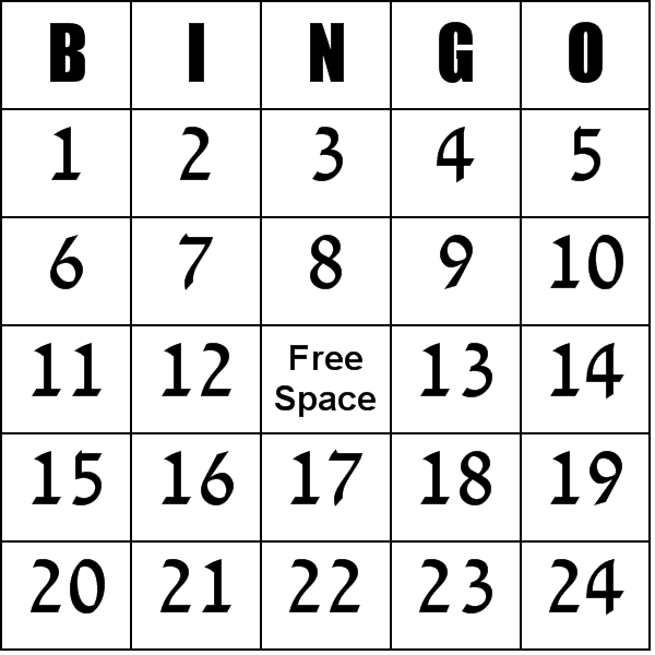 Free Printable Blank Bingo Cards Template | Numbers 1-100 Bingo ...