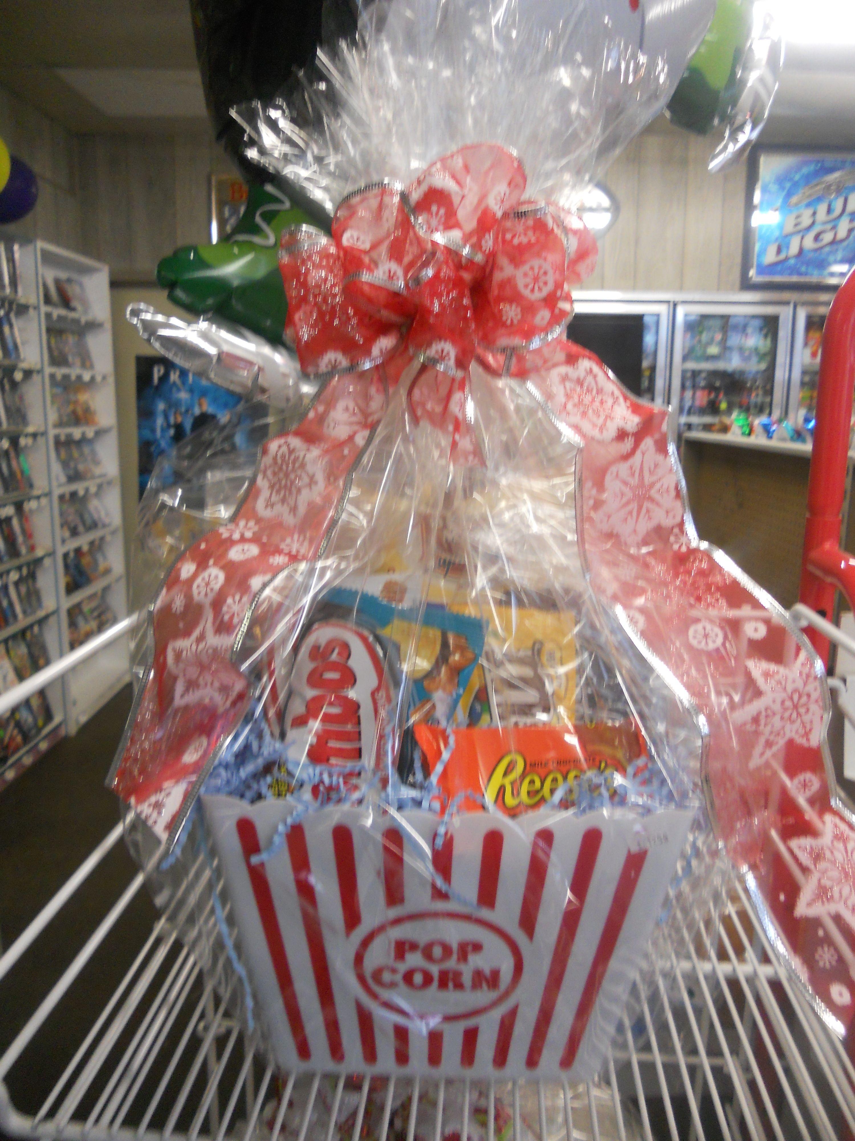Popcorn Gift Basket + Movie tickets or DVD | Supply Cake ...