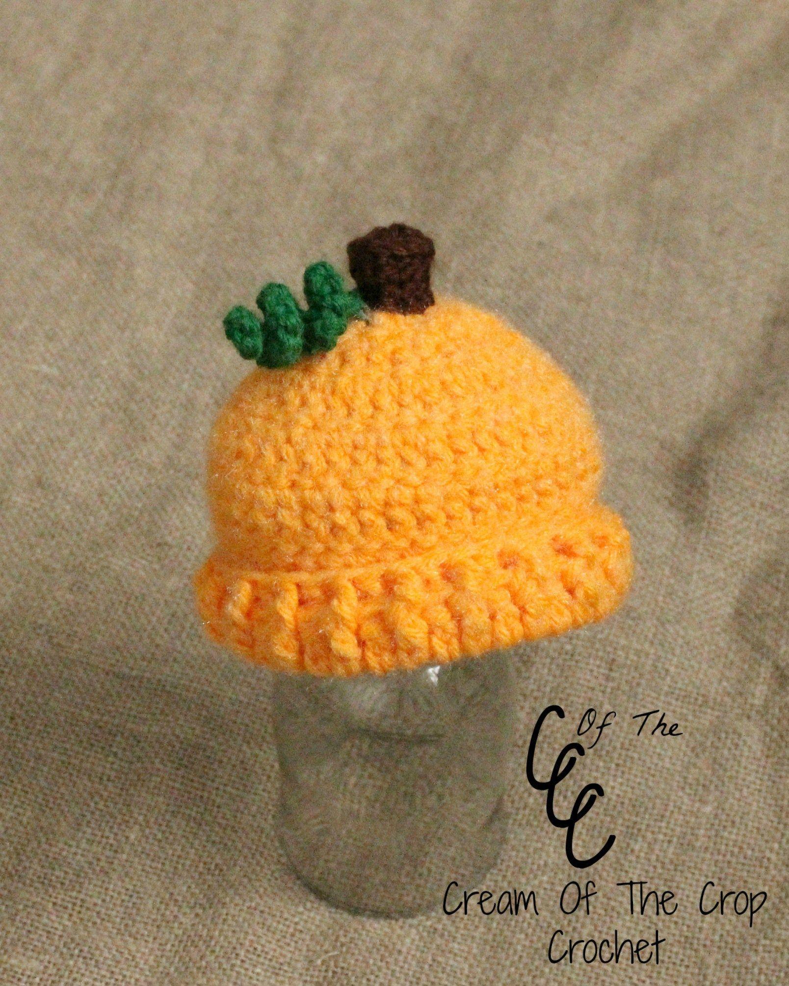 Preemie/Newborn Pumpkin Hats Pattern | crochet Cartoon hats | Pinterest