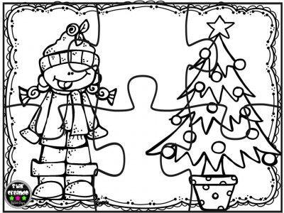 Puzzles navidad para colorear (5) | Matamáticas | Pinterest ...
