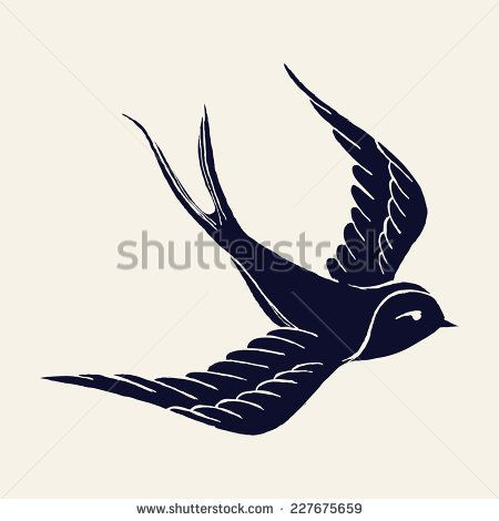 Swallow Stock Vectors Vector Clip Art
