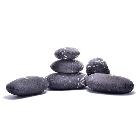 Saturn Living Stone Soft Felt Pets Stone Rock Pillows Livingstones Floor  Cushions Soft Throw Pillows 6 Pieces Set