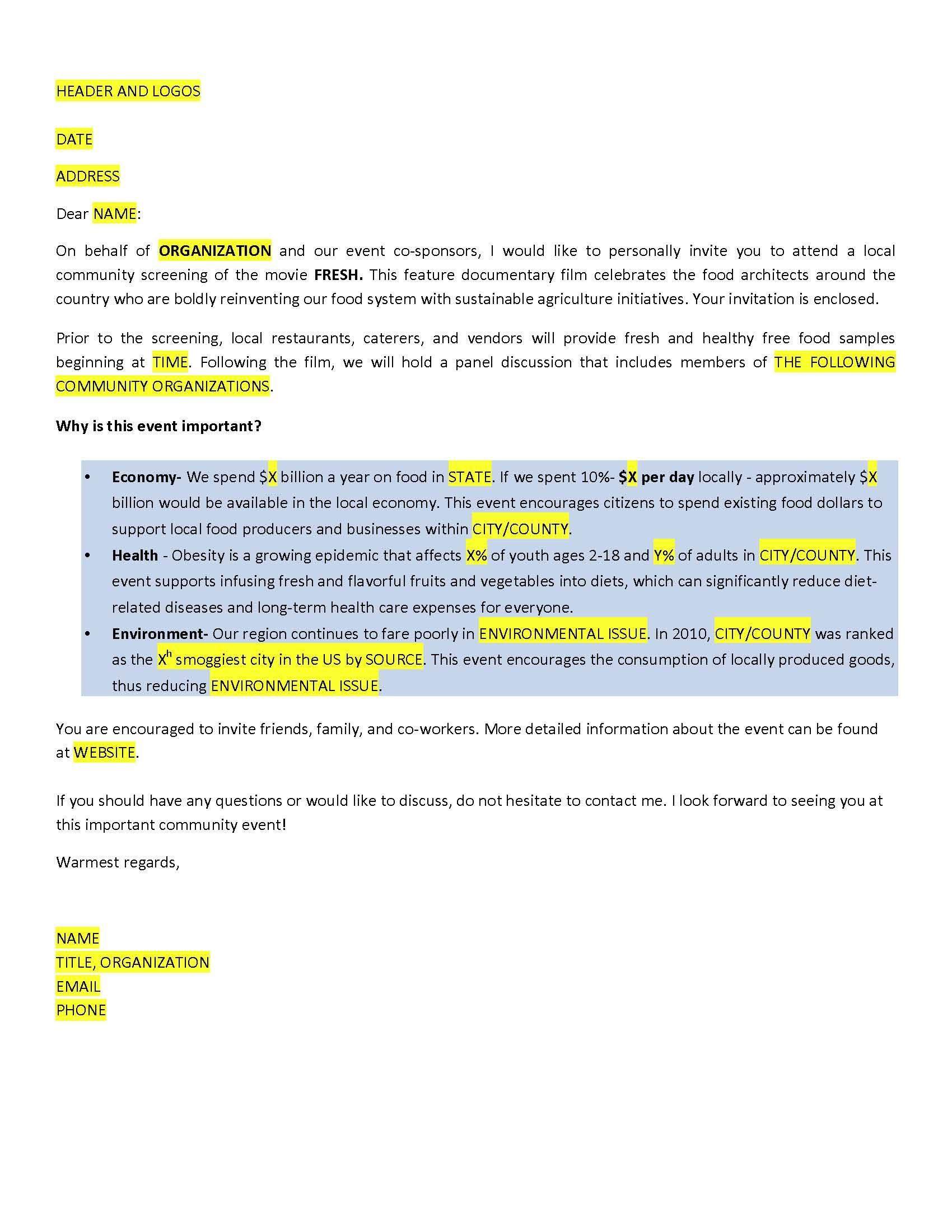 Sample Invitation Letter Invitation Letters For AllVisa