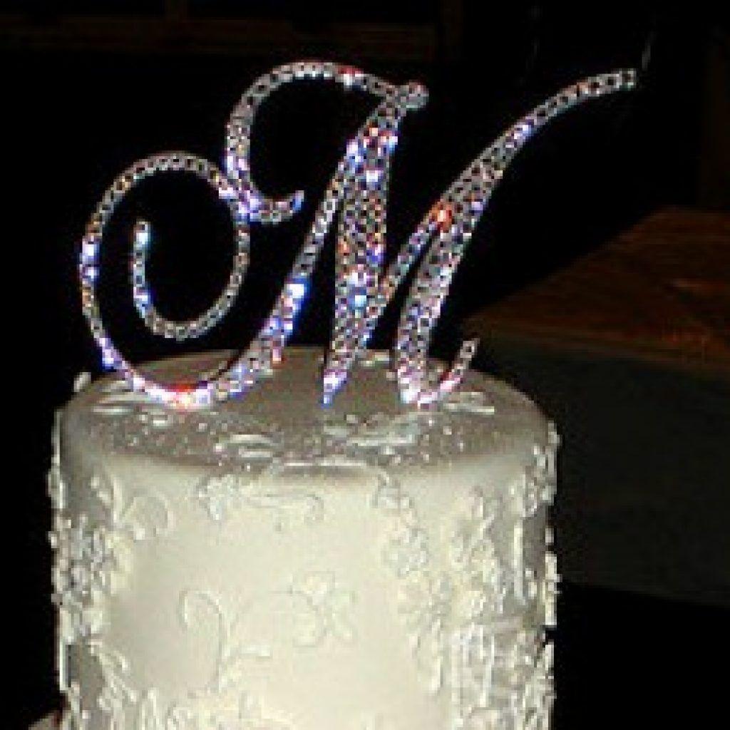 Diy Monogram Cake Topper Gold Monogram Cake Topper Gold Monogram