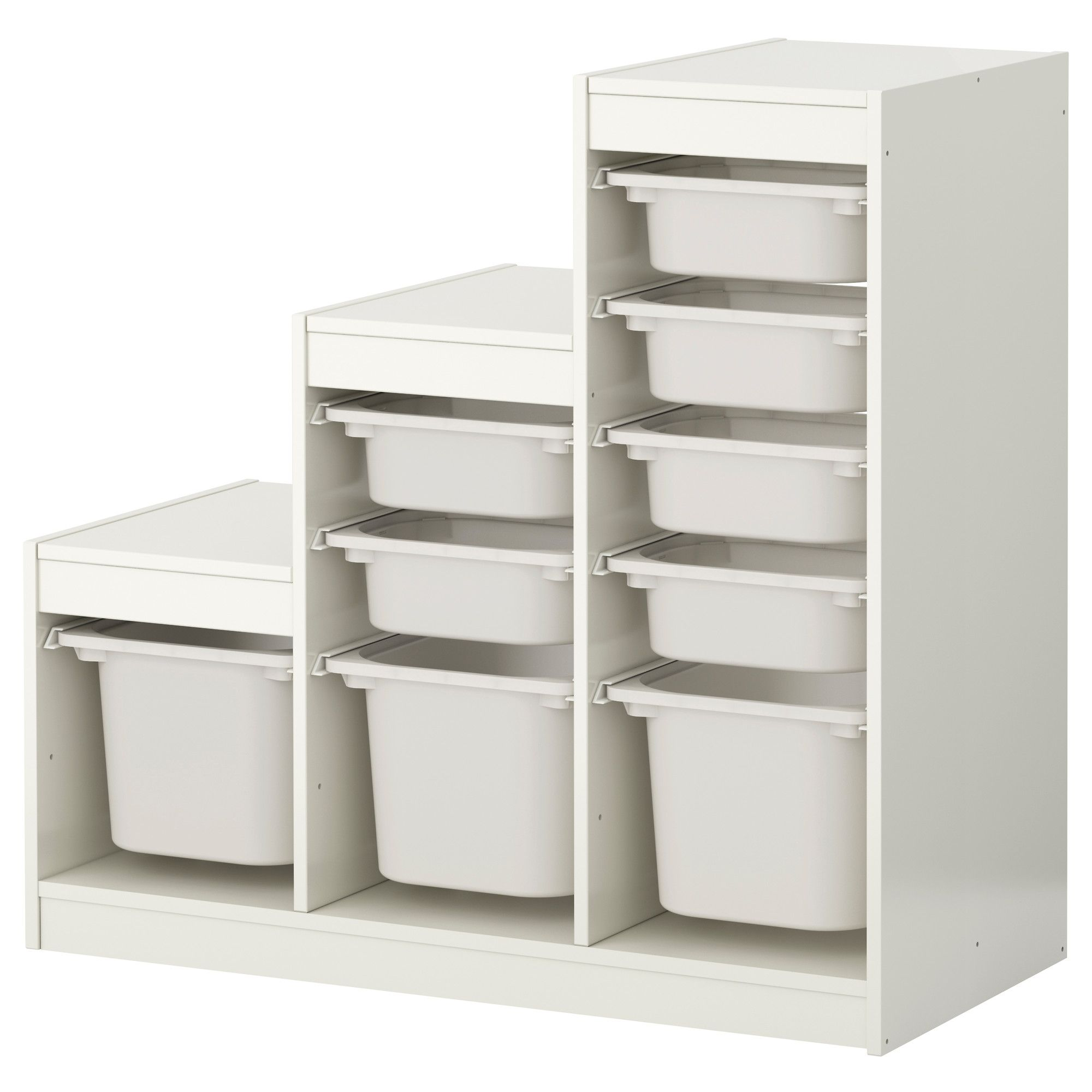 trofast storage combination with boxes, white, white | art studio