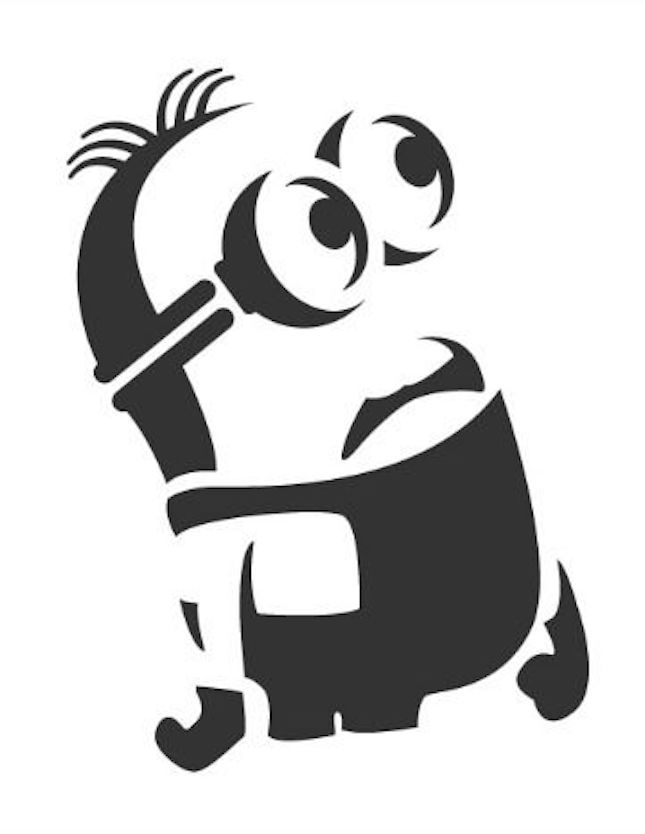 It's just a picture of Crazy Minion Pumpkin Stencil Printable