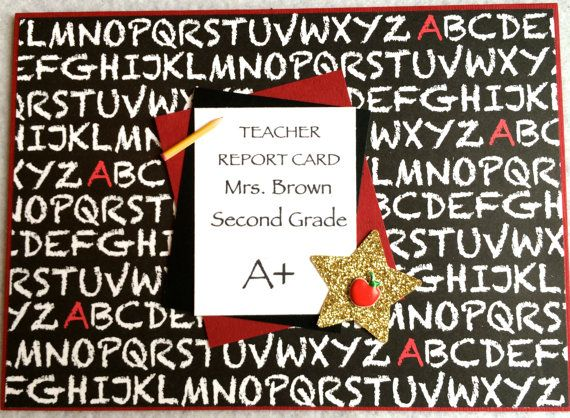 Teacher Thank You CardEnd Of by sentimentsbydesign1 on Etsy, $3.75