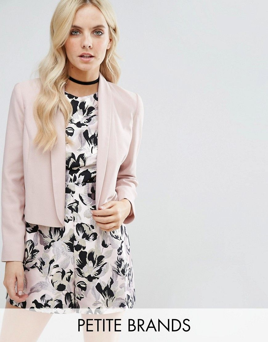 e4ff77d97bc88 Miss Selfridge Petite Tailored Jacket - Pink. Petite jacket by Miss  Selfridge Petite, Lightly textured woven fabric, Silky-feel lining, Shawl  collar, Open ...