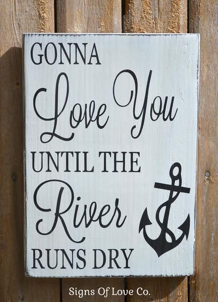River House Décor Signs Anchor Wall Wood Plaque Quotes Love Wedding Custom Love Plaques Quotes