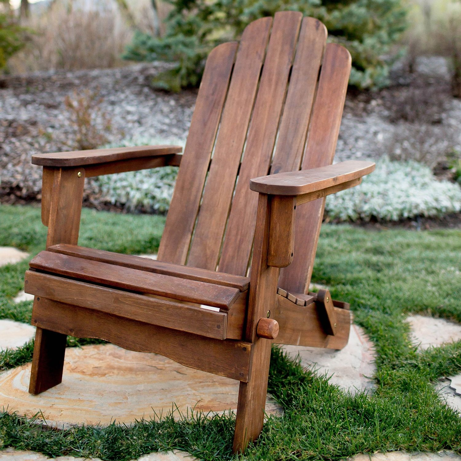 Acacia Dark Brown Adirondack Chair Wood Adirondack Chairs