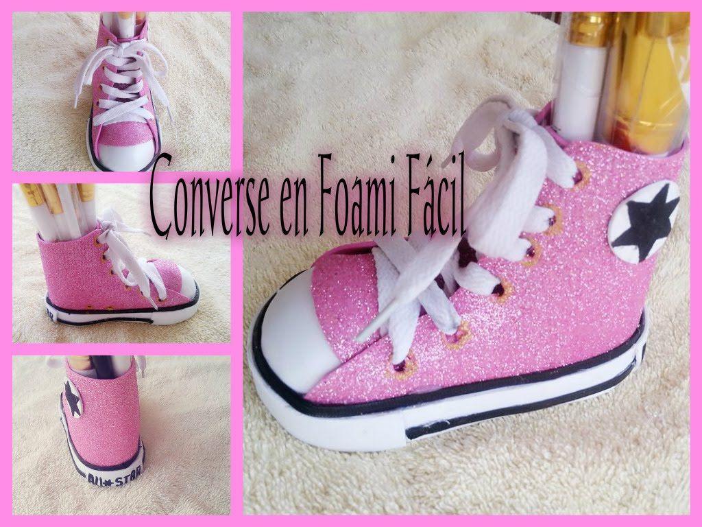 56a2d5c59c6b DIY CONVERSE EN FOAMI FACIL Baby Converse Shoes