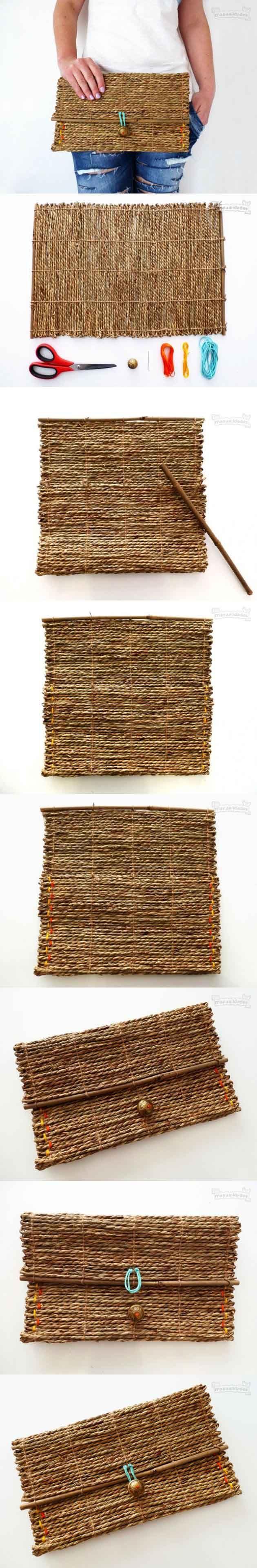 Bolso de mano reciclando un mantel individual
