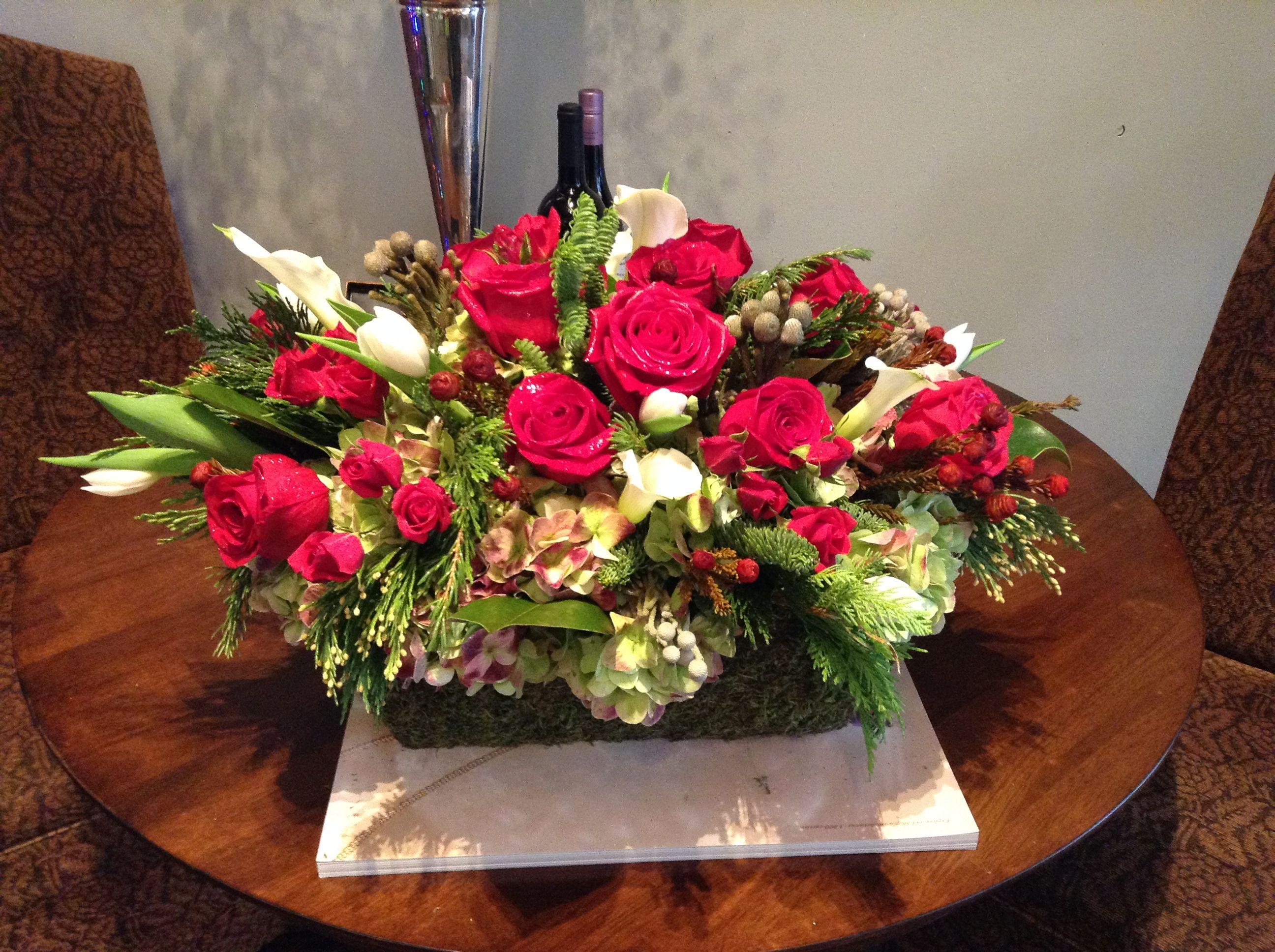 Tis the season! Beautiful arrangement for Christmas   www.amaranthusonmain.com
