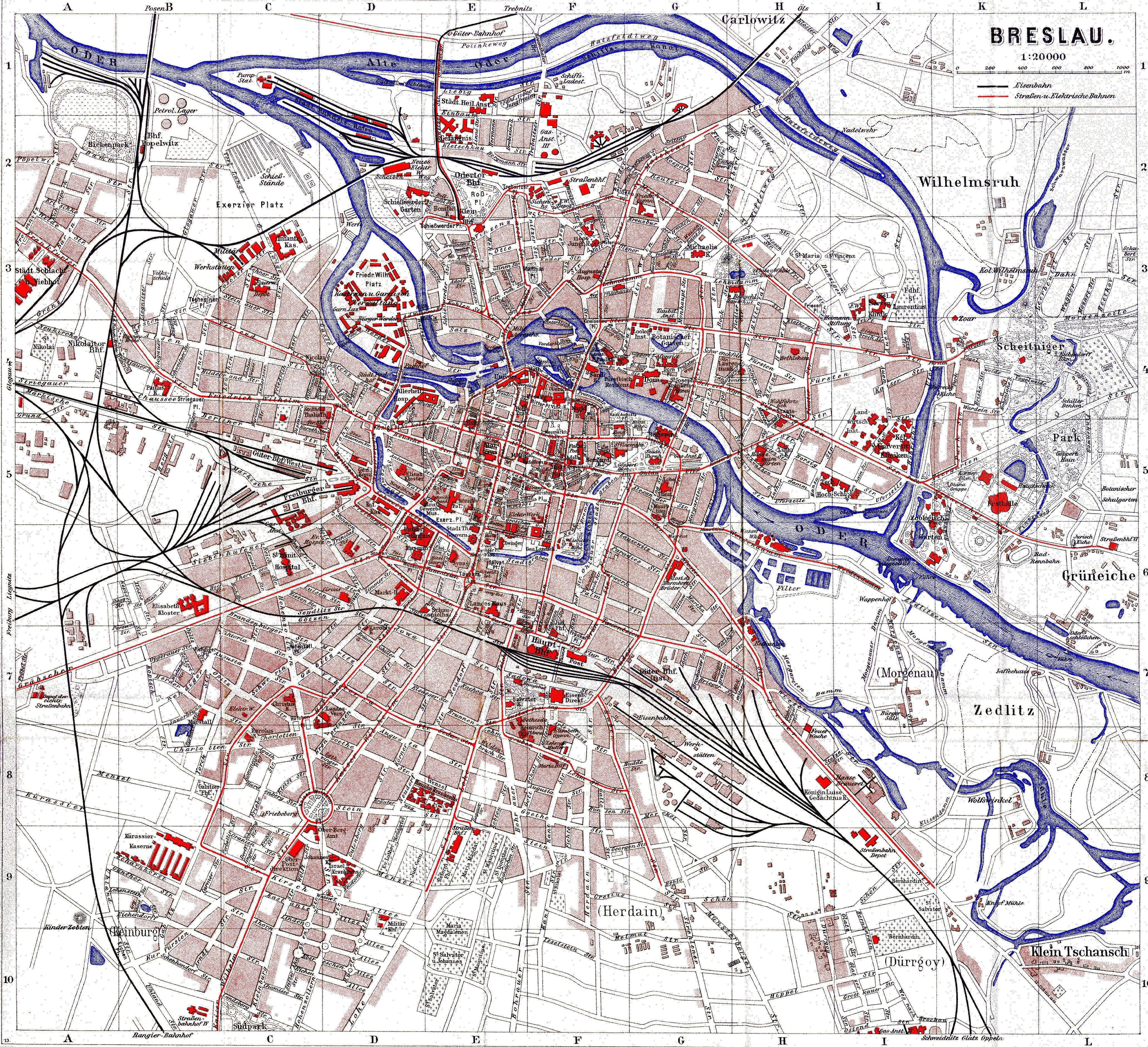 Breslau 1920 Wroclaw Genealogy Germany City Design