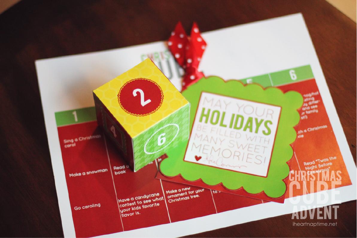 Christmas Cube Advent Free Printable