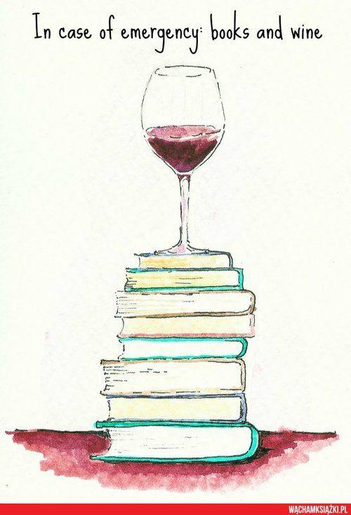 Buch + Wein perfekte Kombination für Regentage! Wine