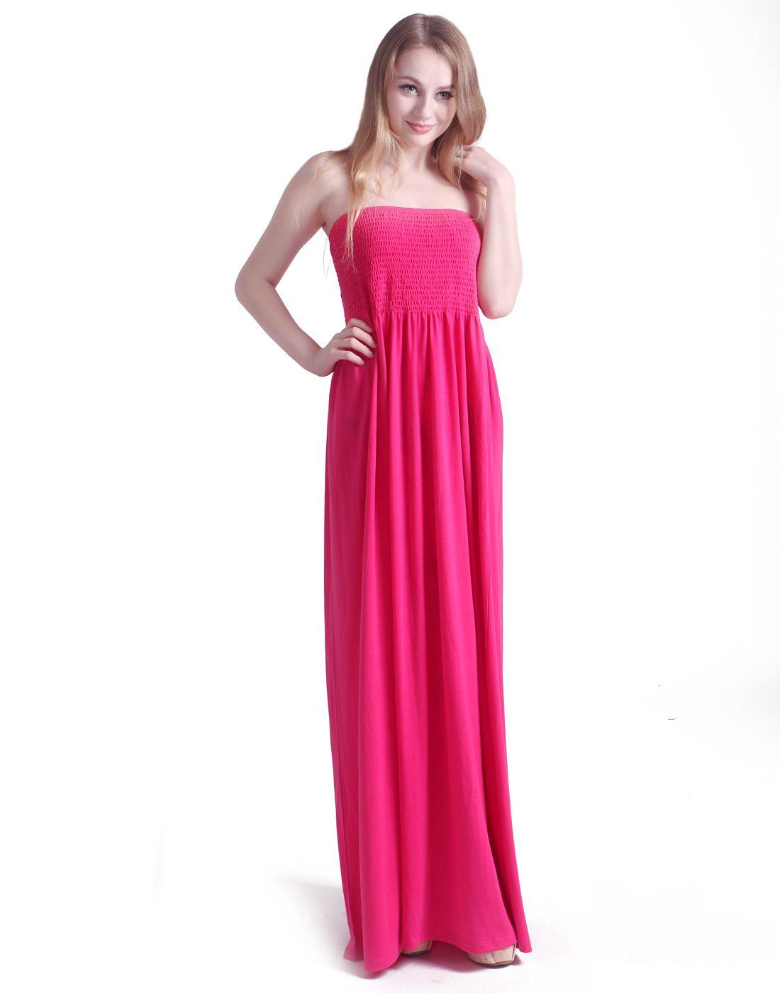c6b22473d5b HDE Women s Strapless Maxi Dress Tube Top Long Skirt Sundress Cover Up Maxi