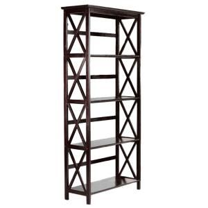 Home Decorators Collection Montego 295 In W High Espresso 5 Shelf Bookshelf 0218410820 At The Depot