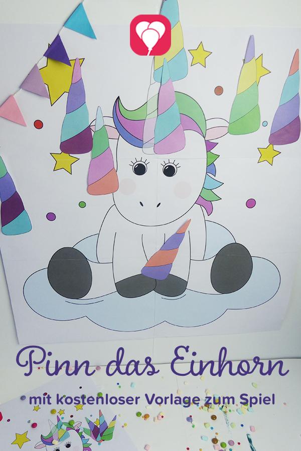 Kostenlose Vorlage Fur Einhorn Spiel Pinn Das Einhorn Ist Das Perfekte Spiel Fur Deinen Nachsten Einhorn Geburtstag Kindergeburtstag Motto Geburtstag Einhorn