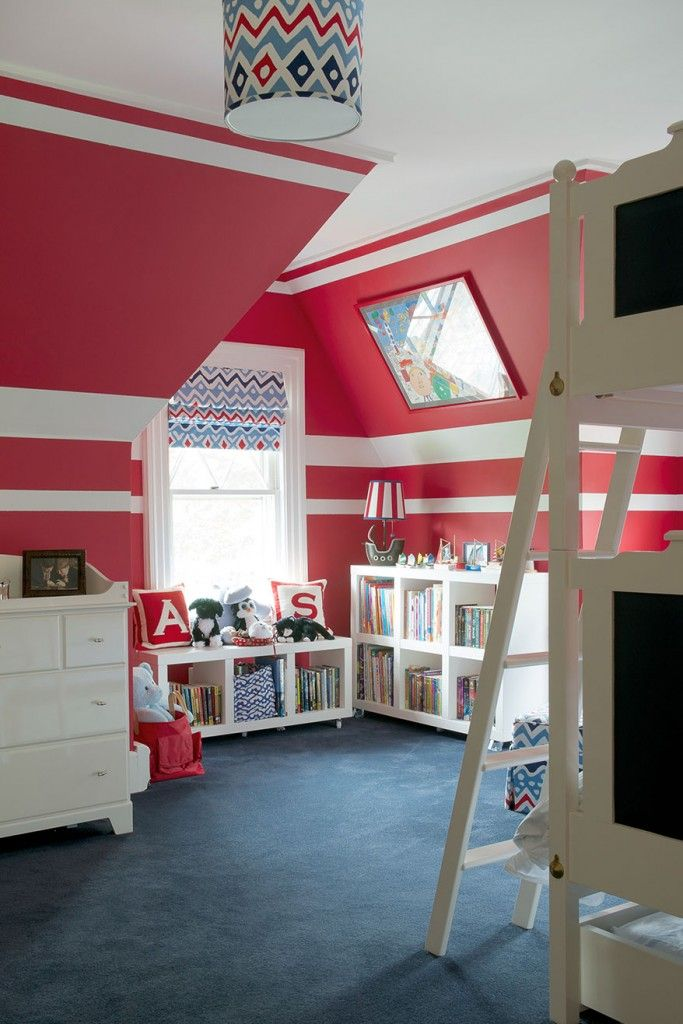 pinmary ann mottola on playrooms/kid's bedrooms | red