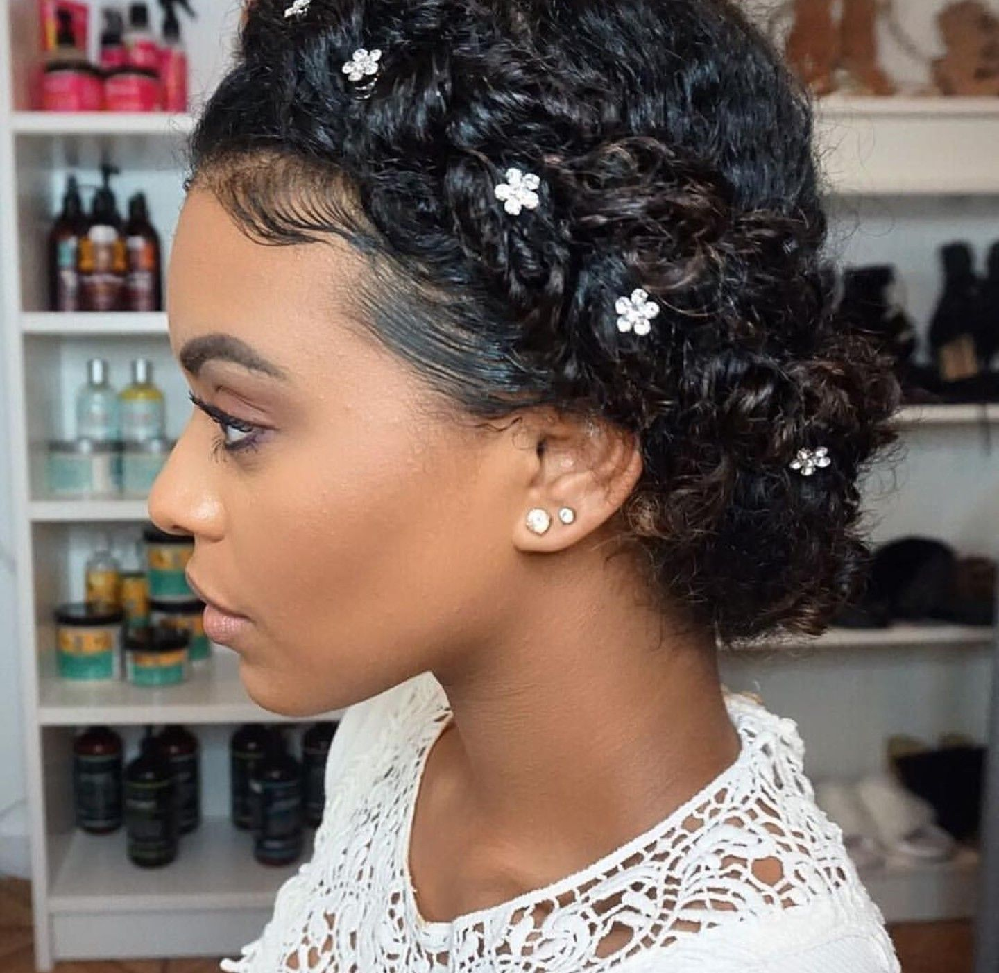 Maybe For The Girls Natural Wedding Hairstyles Curly Wedding