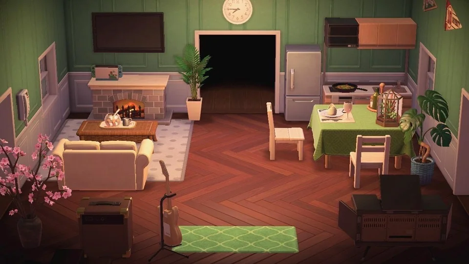 My Living Room Kitchen Hope It Inspires You Animalcrossing Animal Crossing Cute Living Room Animal Crossing Game